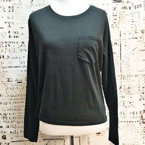 Everlane Long Sleeve Cotton Pocket Tee T-Shirt